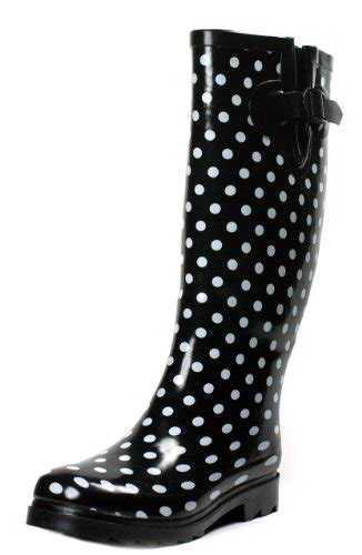 polka dot boots boots rubber polka size new mid calf dot