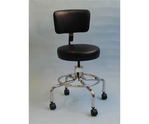 Doctors Stool With Back by Classic Doctors Stool W Back W Foot Ring Casters