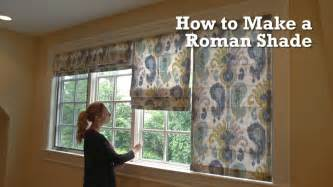 How To Make Easy Roman Blinds How To Make A Roman Shade Youtube
