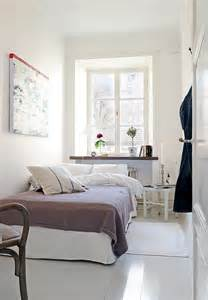Tiny Bedroom Ideas Minimalist White Tiny Bedroom Ideas With White Bed And Bedside Table White Framed Window