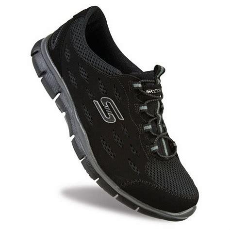 skechers black sneakers womens skechers gratis going places black athletic shoes