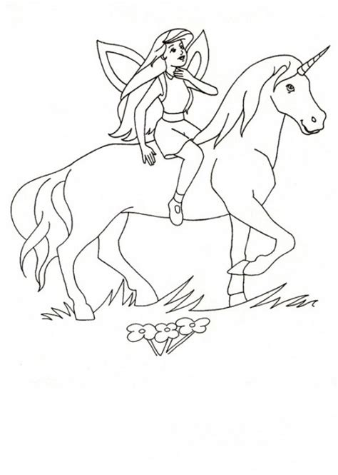 Unicorn Horse Coloring Pages Fairy And Page   grig3.org