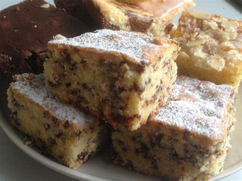 Heller Kuchen Mit Schokostreusel Vom Blech Rezept