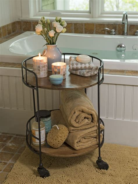bathroom tables storage best 25 bathtub storage ideas on