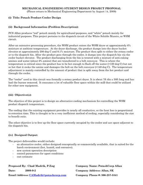 proposal format engineering 16 engineering design proposal template images network