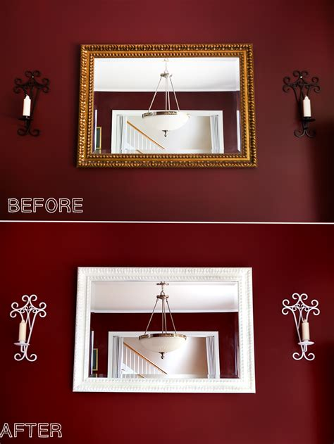 mirrors with mirror frames diy update an old mirror frame diy painting tutorial
