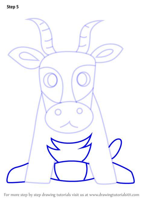 step  step   draw  antelope  kids drawingtutorialscom