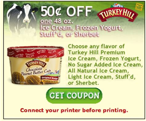 printable turkey hill ice cream coupons new turkey hill ice cream coupon for kroger mega event