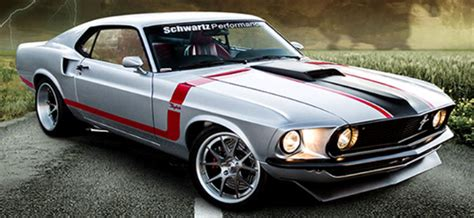 Raybestos Mustang Giveaway - 1969 mustang restomod by schwartz performance hot cars
