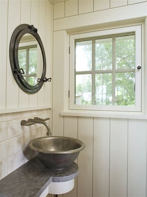 porthole window medicine cabinet nautical interior