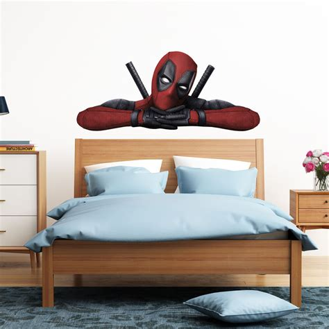Deadpool Bedroom deadpool peeking peeping boy car bedroom decal wall