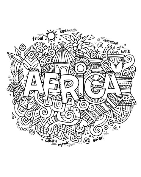 abstract coloring pages with words free coloring page coloring adult africa abstract symbols