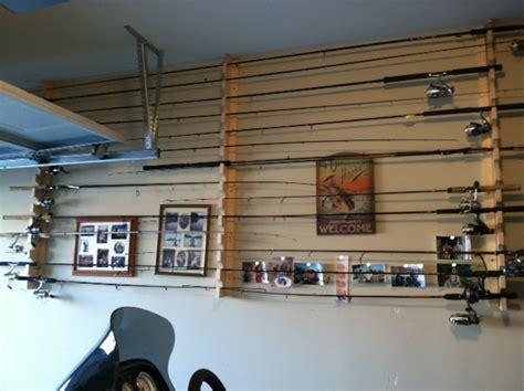 Garage Rod Holder by Built New Rod Holder For Garage