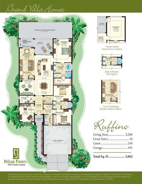 San Remo Floor Plans Pelican Preserve Floor Plans