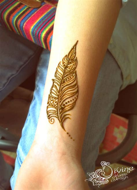 henna feather design google search henna pinterest
