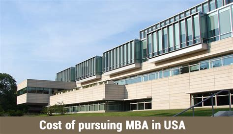Cost Of Studying Mba In Singapore by Cost Of Pursuing Mba In Usa