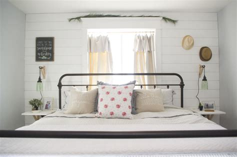 modern farmhouse bedroom redesign  mombot