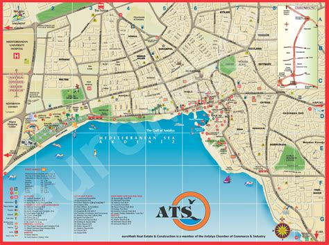 antalya map tourist attractions antalya turkey tourist map antalya mappery