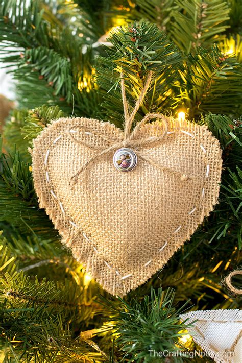 diy rustic burlap christmas ornaments with video tutorial