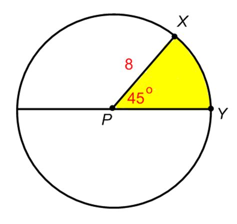 area of circle section act math arc lengths and sector areas cardinal
