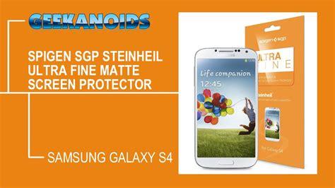Spigen Screen Protector Samsung Galaxy S5 Steinheil Ultra Oleophobic spigen sgp steinheil ultra matte anti fingerprint screen protector for samsung galaxy s4