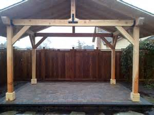 outdoor covered patio structures outdoor wood structures dominion landscape eugene