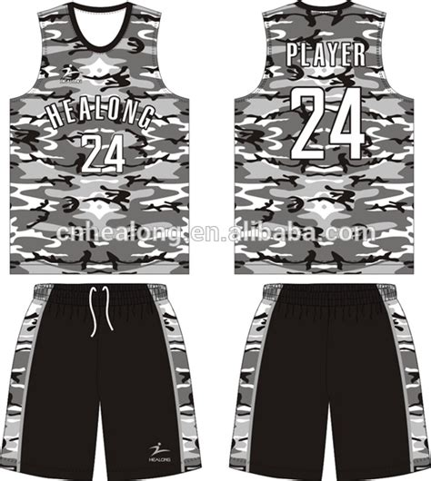 jersey design basketball camouflage youth camo basketball reversible uniform jersey set shirt
