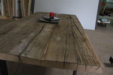 altholz esstisch tisch aus altholz khle dekoration esstisch weis glas
