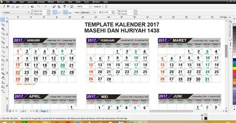 desain kalender cdr template desain kalender 2017 format cdr lengkap hijriyah