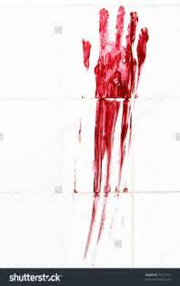 superb bathroom sizes #5: stock-photo-bloody-handprint-with-streaks-on-bathroom-tiles-79771717.jpg