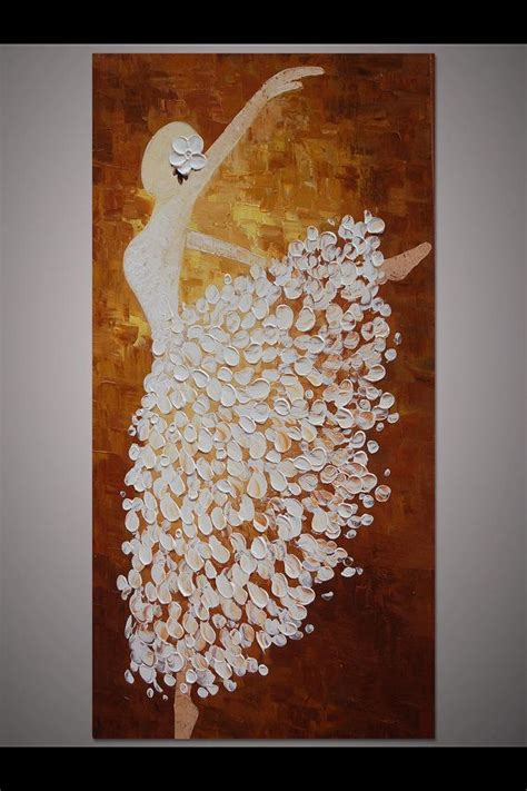 hand painted wall design paint pinterest powder hand painted white brown dancing ballerina painting wall