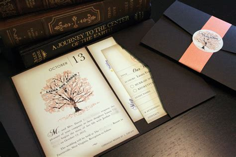 wedding invitations book sle fall vintage book wedding invitation by vohandmade