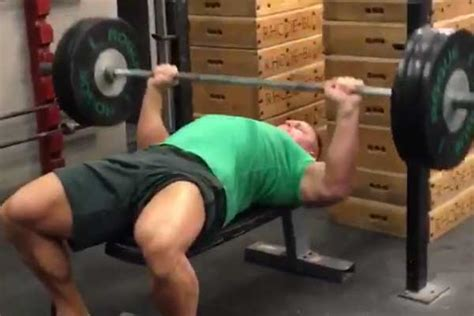 wwe wrestlers bench press john cena bench pressing 3 months ahead of schedule video