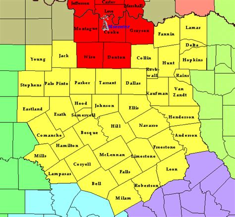 denton county texas map information for the denton tx weather radio transmitter