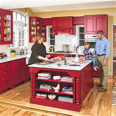 red country kitchen cabinets expanded space a kitchen opens up for family living