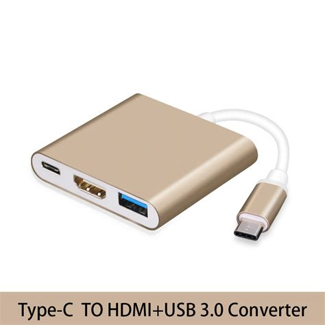 Usb Type C To Usb 3 0 Hdmi And Usb Type C 3 in 1 thunderbolt 3 usb type c usb 3 1 to hdmi 4k usb3 0 usb 3 1 adapter converter cable in