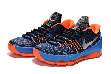 basketball shoes kds new nike kd 8 basketball shoes away blue black orange on