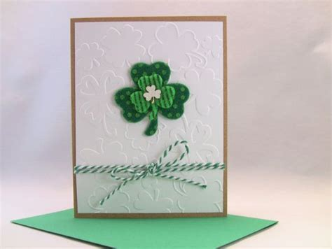 St Handmade - handmade st s day card st patty s day card