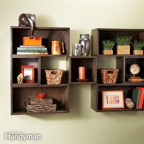 On The Shelf In A Box by Diy Box Shelves The Family Handyman