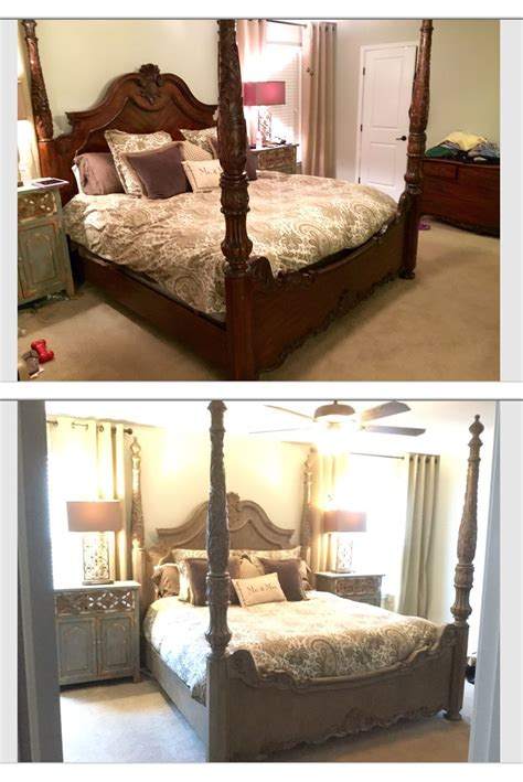 chalk paint bed frame poster king bed frame redo painted with sloan chalk
