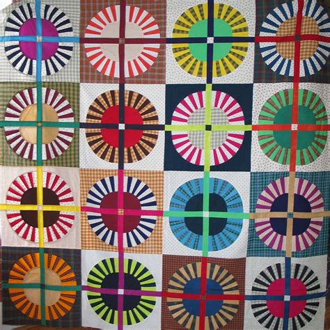 wagon wheel quilt parasols poppies popular quilts