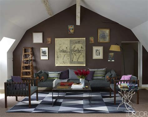 aubergine and grey living room geometric rugs interiors by color 16 interior decorating ideas