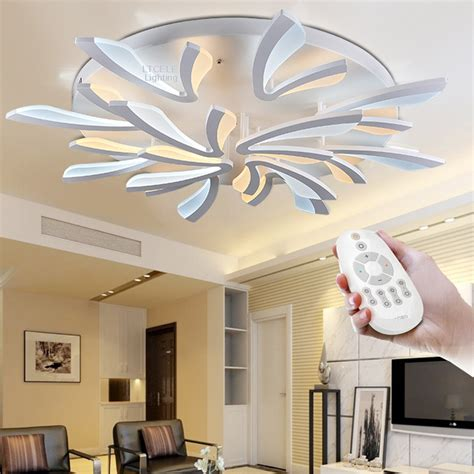 modern ceiling lights for bedroom new acrylic modern led ceiling lights for living room