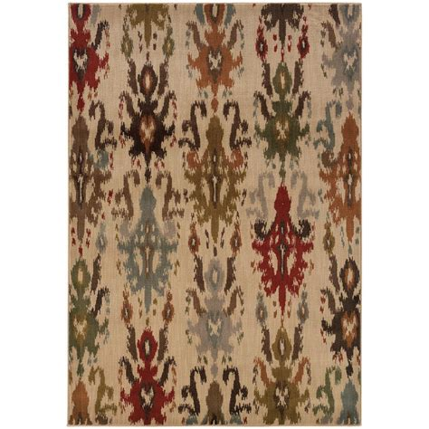 10 x 13 ft area rug home decorators collection veneer beige multi 10 ft x 13