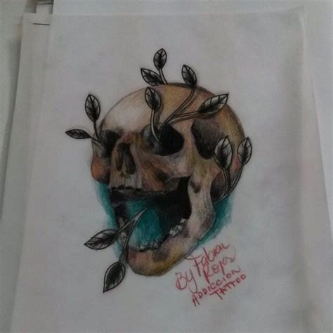 screamin demon tattoo skull calavera tatuaje dibujos
