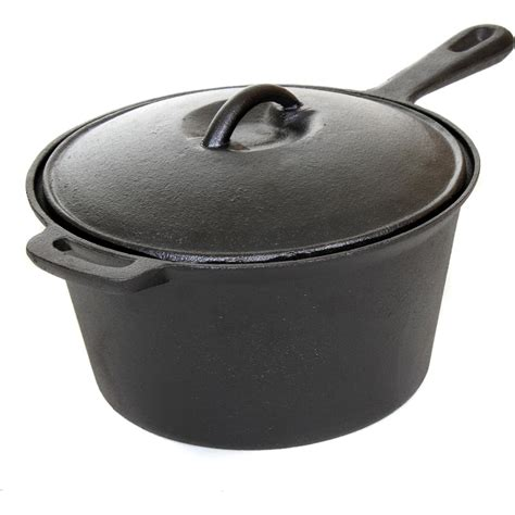 best cast iron pot cajun cookware pots 3 quart seasoned cast iron sauce pot