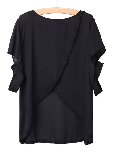 Back Cross Blouse back cross the shoulder tops for casual
