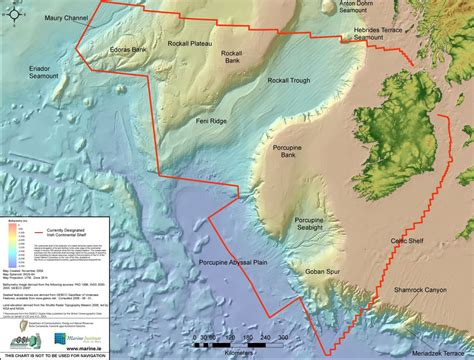 On The Shelf Ireland by The Real Map Of Ireland Marine Institute