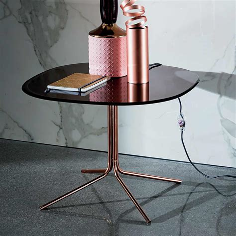 genius square metal and glass table klarity glass