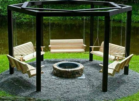 Swings Around A Fire Pit Awesomeness One Day I Ll Swings Around Firepit